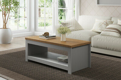 Winchester Classic Traditional Modern Simple Grey & Oak Wooden Coffee Table