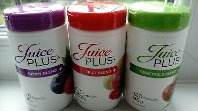 Juice plus capsules 3 x 120, Berry, Fruit and Veg, date  2020 sealed
