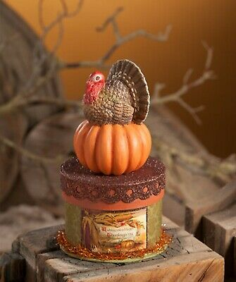 Bethany Lowe Thanksgiving Turkey On Box AUTHORIZED DEALER FREE SHIP