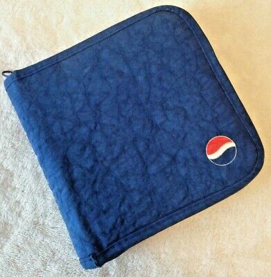 Vintage 90's Pepsi 24 CD DVD Case or Upcycled Planner Cover