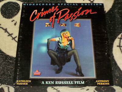 Crimes of Passion UNRATED Widescreen SE Laserdisc LD Ken Russell Free Ship $30