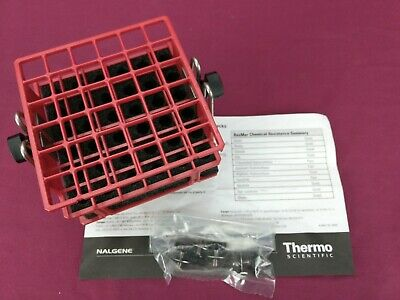 """Barnstead Red Half-Size Test Tube Rack Clamp, 10mm to 13mm, 6"""" x 6"""" Array"""