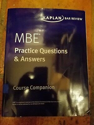 KAPLAN BAR REVIEW MBE Practice Questions Answers NEWEST