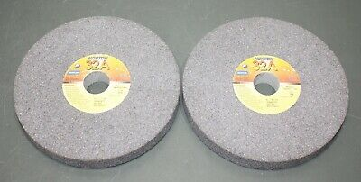 "(2) Norton Straight Surface Grinding Wheel 66253044617, 8"" x 1"" x 1-1/4"" 46 Grit"