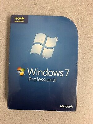 Microsoft Windows 7 Professional Upgrade 32 & 64 Bit DVDs=NEW SEALED RETAIL BOX=
