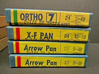 Dupont Ortho & X-F Pan & Arrow Pan 2 1/4 X  3 1/4 4 boxes new sealed expired