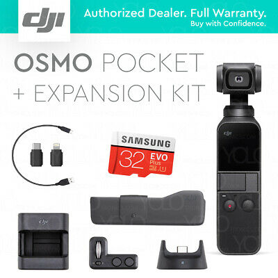 DJI Osmo Pocket + Expansion Kit. 32GB Card. Controller Wheel. Wireless Module.