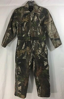 8649361b65ebd Redhead Insulated Coveralls Youth S(10) Realtree Camo Long Sleeved Zippered  Legs