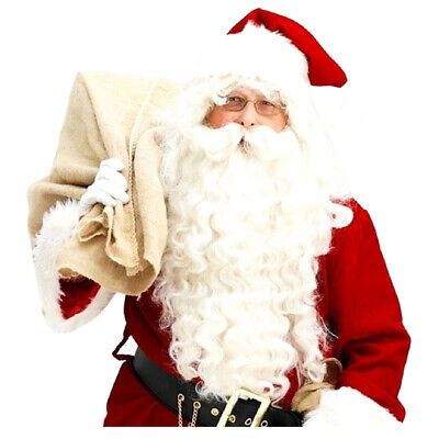 Santa Claus Wig + Beard Set Costume Accessory Adult Christmas Fancy Dress C1D3