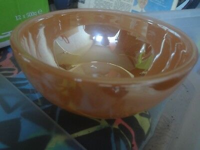 Vintage Fire King Peach Lustre Oven Ware Bowl - USA