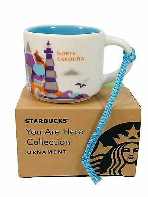 Starbucks You Are Here North Carolina Collectable mini Mug ornament 2 oz NIB