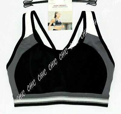 M&S Collection Non Wired High Impact Sports Bra  Bnwt Black Mix Size 34B , 34C