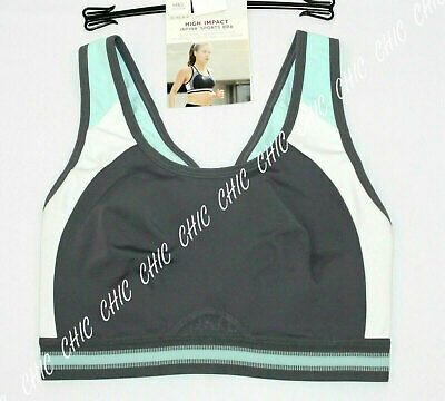 M&S Collection Non Wired High Impact Sports Bra MINT MIX SIZE 32C ,34C, 34D