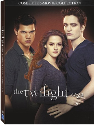 The Twilight Saga Complete Movies Series 5 movie collection Boxed DVD Set