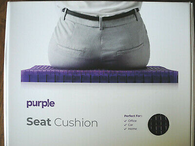 "The Purple Seat Cushion With Cover 18x16x1.25"" lumbar support relieves pressure"