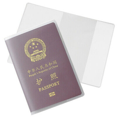 a6ee01141e62 PASSPORT PROTECTOR CLEAR Cover Vinyl Case, sturdy Plastic Holder ...