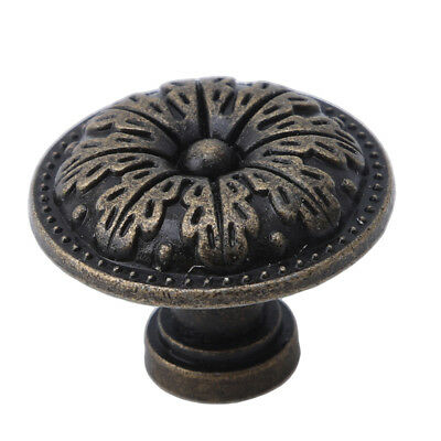 Retro Door Drawer Pull Knobs Bronze Tone Cabinet Jewelry Box Handle  LL