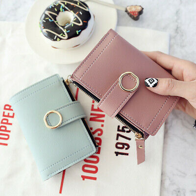 Stylish Girls Ladies Leather Purse Money Clip Wallet Clutch Card Bag Holder Gift
