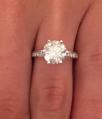 1Ct Round Brilliant Cut Diamond Solitaire Engagement Ring Solid 14K Yellow Gold