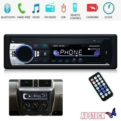 Single 1DIN Car MP5 MP3 Player Bluetooth USB Receiver AUX IN Stereo Audio Radio