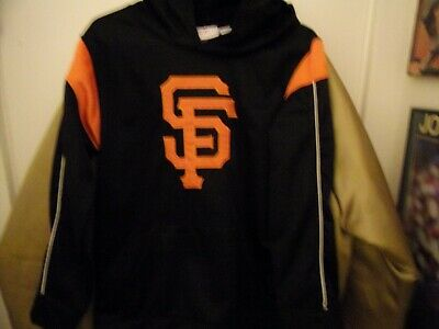 San Francisco Giants Pull Over Baseball Hoodie Size Youth M 10/12 All Sewn