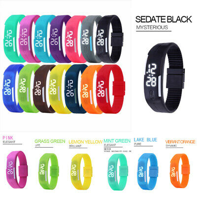 Multifunction LED Sport Electronic Digital Wrist Watch For Child Boys Girls Kids