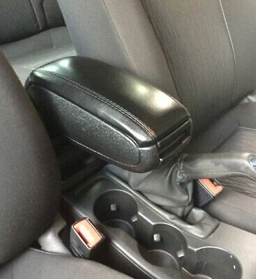 Custom-Fit Console Armrest for Ford Fiesta 1995-2002 Mazda 121 Black Fabric