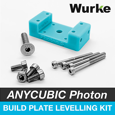 Build Plate Platform Levelling Kit Upgrade for Anycubic Photon & Photon S Blue