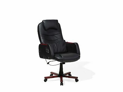 Executive Chair Faux Leather Black CAPTAIN