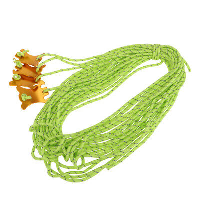 4x4m Reflective Nylon Cord Tent Canopy Guyline Rope Packaging Line, Green