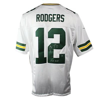 d2be62d0 Aaron Rodgers Signed Green Bay Packers White Limited Nike Jersey & XLV MVP  Insc