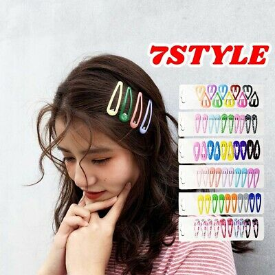 10PC/Set Women Girl Bobby Pin Barrette Hairpin Snap Metal Hair Clips 7 Style New