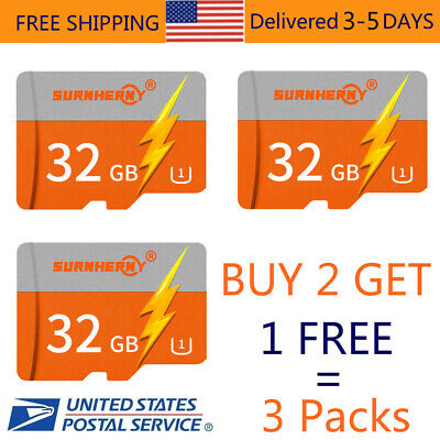 3×32GB TF Flash Micro SD Memory Card Fast Class10 80MB/S For Camera Mobile Phone