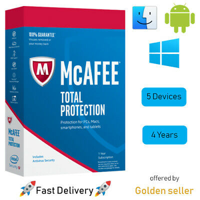 McAfee Total Protection 2019 5 DEVICES 5 YEAR 🚀 Fast Delivery 🚀