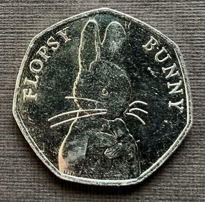 2018 Flopsy Bunny - Beatrix Potter 50p Fifty Pence coin - UNC