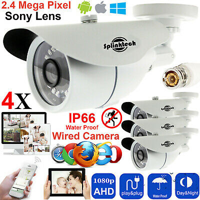 4x CCTV Bullet Camera 2.4MP HD 1080p AHD Outdoor Security Sony Lens Night Vision