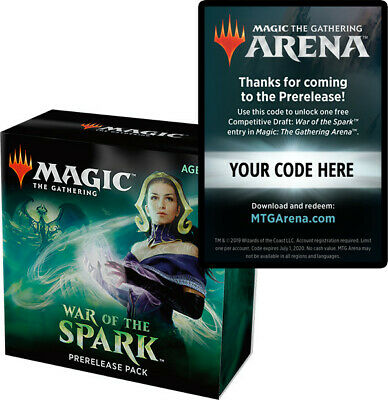 MTG Arena Competitive Draft Codes (WAR) email or physical token