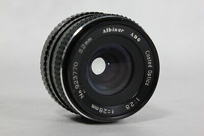 Albinar ADG PENTAX PK Mount 28mm f2.8 Wide Angle Prime Lens  Couple Small Issues
