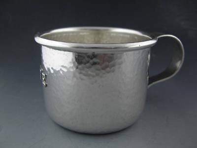 Sterling LEBOLT Child's Cup ARTS & CRAFTS hand beaten / hammered CHICAGO IL