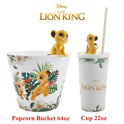 Disney The Lion King Simba Topper Cup & Popcorn Bucket Movie Exclusive Theater
