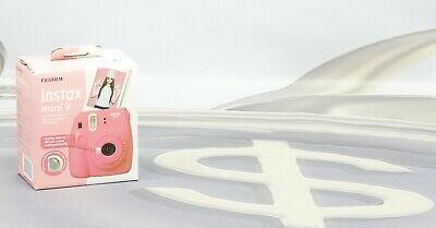 Fujifilm Instax Mini 9 Instant Camera - Flamingo Pink New #D3