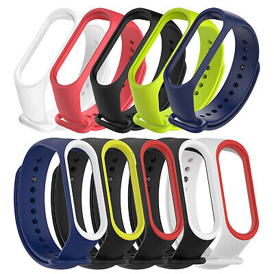 for Xiaomi Miband 4 Miband 3 Watch Strap Silicone Wristband Bracelet Replacement