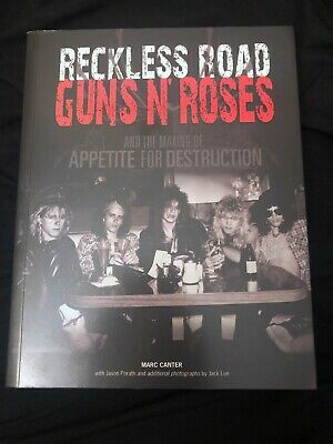 Guns N Roses Reckless Road Book Signed by Marc Canter Photos/Interviews Slash