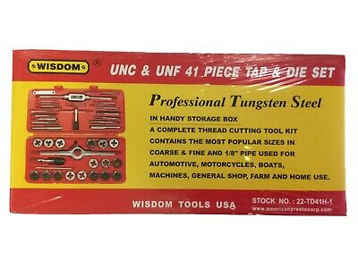 UNC and UNF 41pc Tap and Die Set Wisdom 22-TD41H