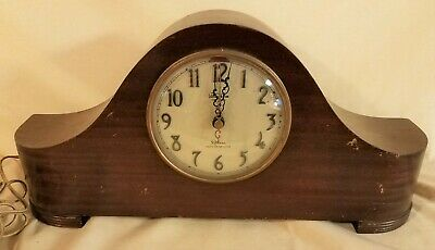 Vintage Desk/Mantle Electric Clock Warren Telechron Company Ashland Mass. Usa.