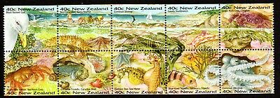 1996 NEW ZEALAND SEASIDE ENVIRONMENT booklet pane SG1958a mint unhinged