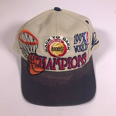 34d5a485 Vintage 1995 World Champions, NBA, Logo Athletics Houston Rockets Hat Cap  [DF02]