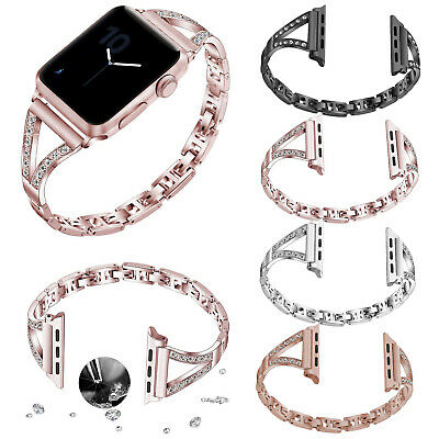 Bling Metal Bracelet for Apple Watch Series 5 4 3 2 1 Band Bangle Crystals Strap