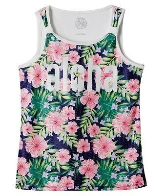 SO Mesh Front Tank Aloha Tropical Floral Girls' Plus Size: 16 1/2