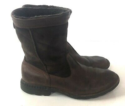 92e17192ca1 UGG SIZE 17 Hafstein Port Brown Waterproof Leather Fur Boots Mens ...